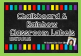 Chalkboard & Rainbow Labels [EDITABLE]