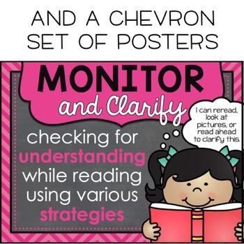 Chalkboard Reading Strategies Posters