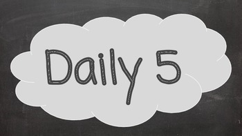 Chalkboard Reading and Daily 5 Banner