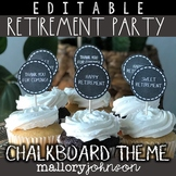 Chalkboard Retirement Party Banners & More