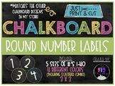 Chalkboard Round Number Labels (1-40)