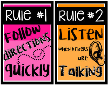 Chalkboard Rules { Bright Version }
