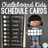 Editable Chalkboard Schedule Cards