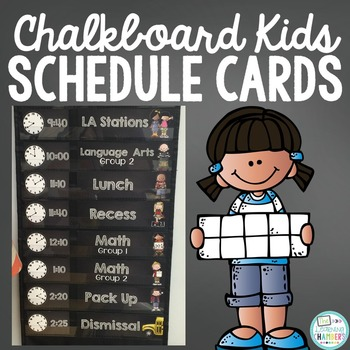 Editable Chalkboard Schedule Cards