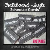 EDITABLE Schedule Cards | Chalkboard Style
