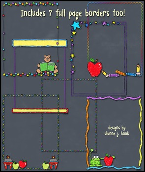 Chalkboard School Clip Art Download