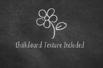 Chalkboard School Doodles Clipart