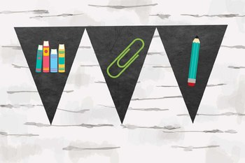 Chalkboard School Supplies Banners, Make your own banners