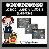 Editable Chalkboard School Supply Labels