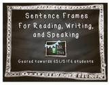 Chalkboard Sentence Frame Posters