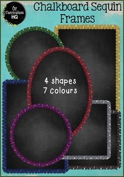 Chalkboard Sequin Frames