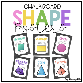 Chalkboard Shape Posters