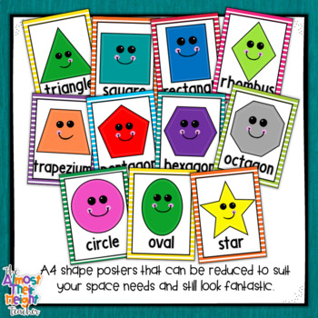 Shape Posters with bright frames