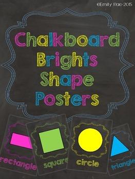 Chalkboard Shape Posters - Chalkboard Brights