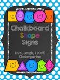 Chalkboard Shape Signs