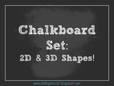 Chalkboard Shape Signs {white}