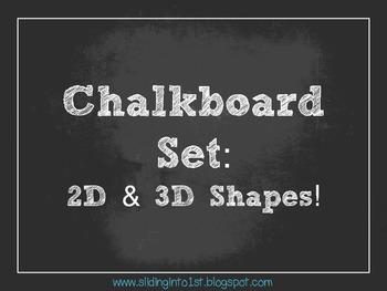 Chalkboard Shape Signs {white}
