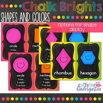 Chalkboard Theme Decor Shapes and Colors Black and Bright