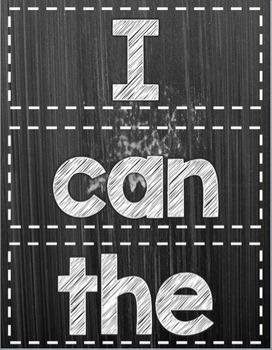Chalkboard Sight Words--Editable