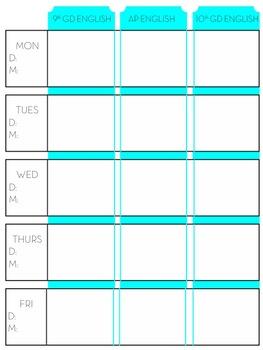 Chalkboard Simple Fully Customizable Teacher Planner