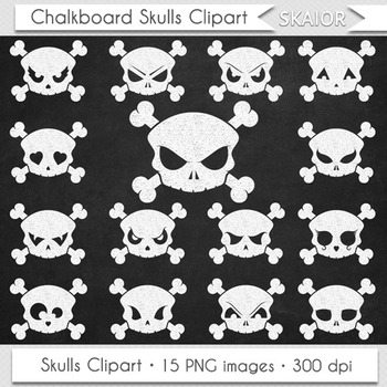 Chalkboard Skulls Clipart Halloween Clipart Skulls Clip Ar