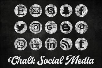 Chalkboard Social Media Icons