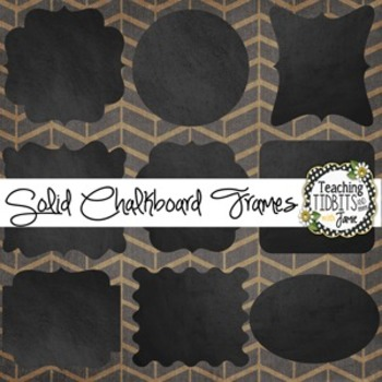 Chalkboard Solid Color Frames {Personal and Commercial Use}