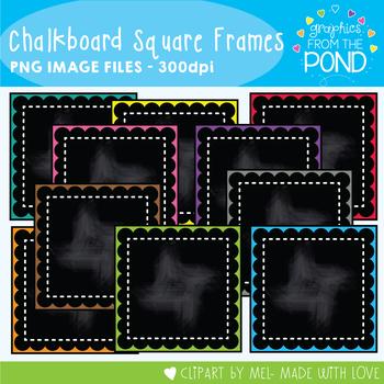 Chalkboard Square Frames
