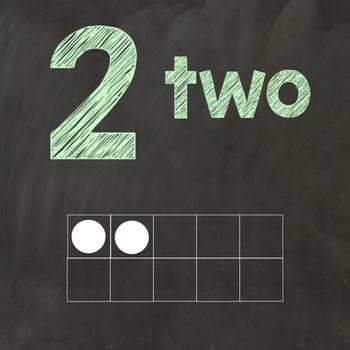 Chalkboard Square Number Posters Bundle