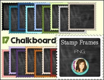 Chalkboard Stamp Frames
