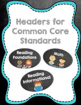Chalkboard Standards Headers