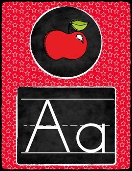 Chalkboard Star Alphabet