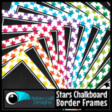 Framed Chalkboard Clip Art (Stars)