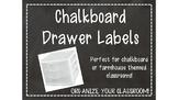 Chalkboard Sterilite Drawer Labels