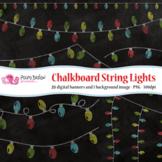 Chalkboard String Lights clip art