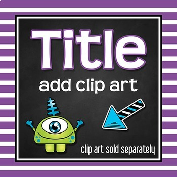 Framed Chalkboard Clip Art (Stripes)
