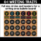 Writing Traits and CUBES Method Student Aides Chalkboard Bundle