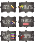 Chalkboard Student Supply Labels