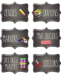 Chalkboard Student Supply Labels *editable*