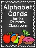 Chalkboard Style Alphabet Posters