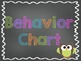 Chalkboard Style Behavior Clip Chart - OWL Themed!