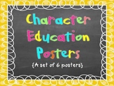 Chalkboard Style Character Education Posters