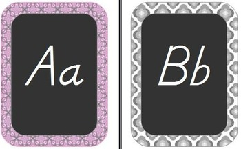 Chalkboard Style Classroom Decor-Pink, Black, and Gray