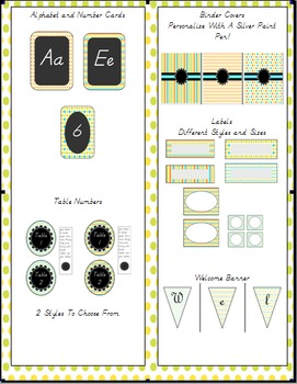 Chalkboard Style Classroom Decor-Summer Colors!