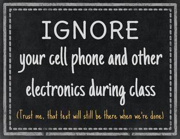 Chalkboard Style Classroom Rules