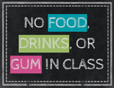 Chalkboard Style Classroom Rules