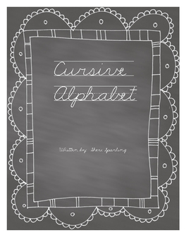 Chalkboard Style Cursive Alphabet with Lines