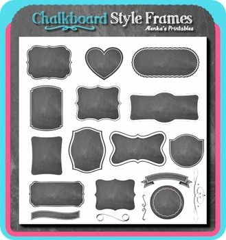 Chalkboard Style Frames