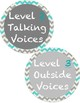 Chalkboard Style Noise Level Chart