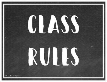 "Chalkboard Style ""Top Three"" Class Rules"